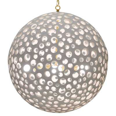 Oly Studio  Annika White Brass Orb Chandelier - 32.5D - Kathy Kuo Home
