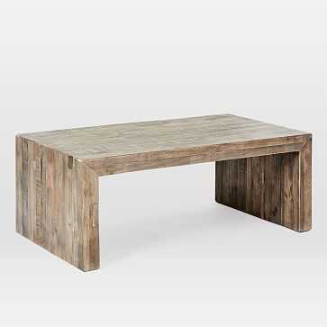 Emmerson® Reclaimed Wood Coffee Table, Stone Gray - West Elm