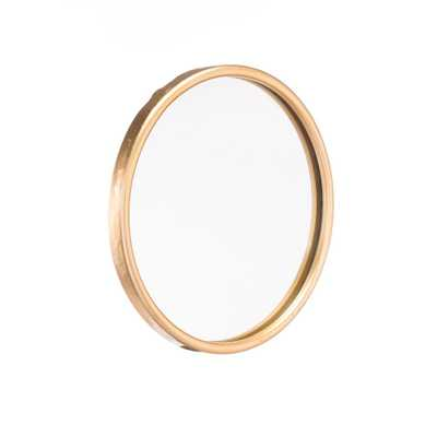 Ogee Gold Small Wall Mirror - Home Depot