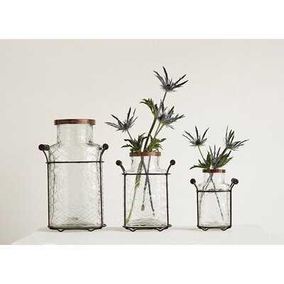 Amphora Glass and Metal Vase - Wayfair
