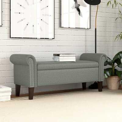 Hilma Rolled Arm Upholstered Storage Bench - Wayfair
