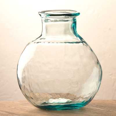 Oval Recycled Glass Balloon Vase - Wayfair