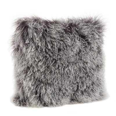 Revilla Mongolian Wool Throw Pillow - Wayfair