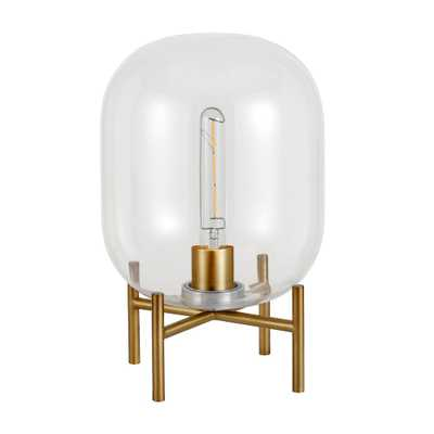 Hudson&Canal Edison 15 in. Glass and Brass Table Lamp - Home Depot