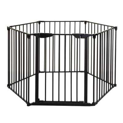 Mayfair Converta 29.5 in. H. 3-in-1 Play-Pen 6 Panel Gate, Black - Home Depot