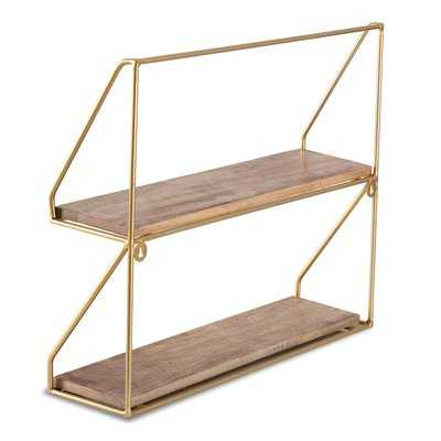 Trista 2-Tier Wall Shelf - Wayfair