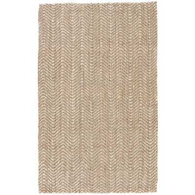 Solids/Handloom Light Taupe 5 ft. x 8 ft. Chevrons Area Rug - Home Depot