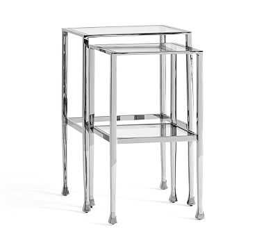 Tanner Nesting Side Tables, Nickel finish - Pottery Barn