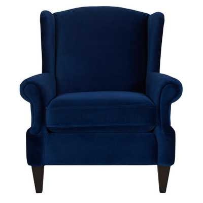 Anya Navy Blue Arm Chair - Home Depot