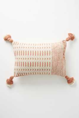 Joanna Gaines for Anthropologie Tasseled Olive Pillow - Anthropologie