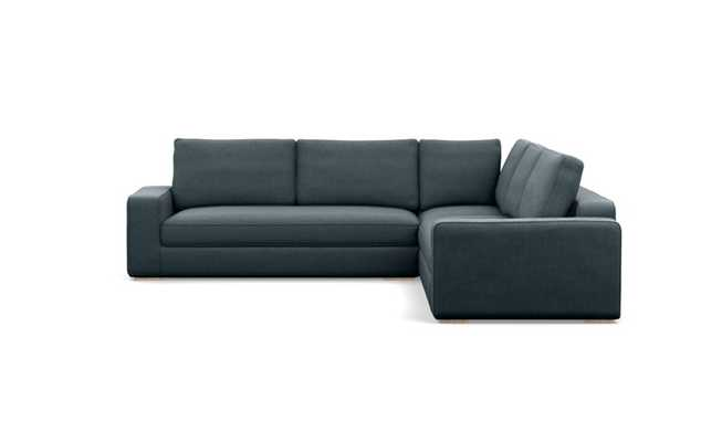 Ainsley Corner Sectional with Union Fabric and Natural Oak legs - Interior Define