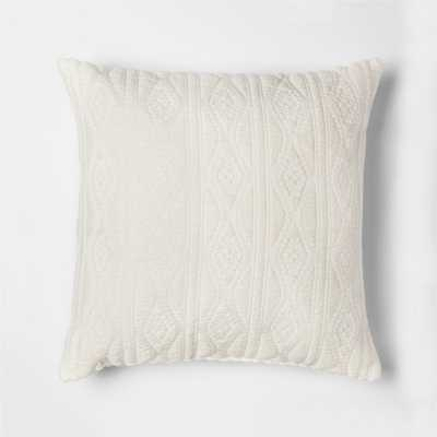 "Woven Jacquard 18"" Throw Pillow - Threshold, Ivory - Target"