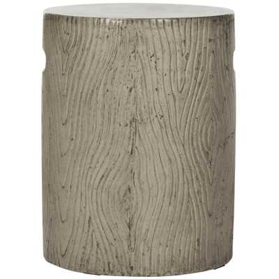 Safavieh Trunk Dark Gray Stone Indoor/Outdoor Accent Table - Home Depot