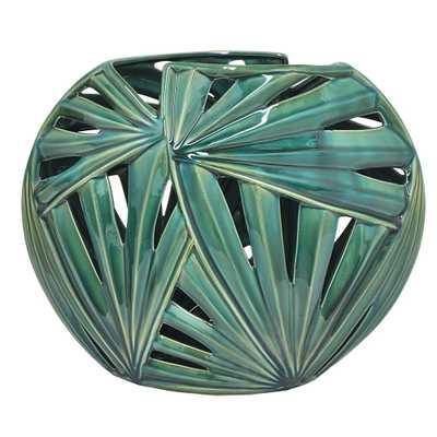 Green Ceramic Vase - Home Depot
