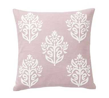 "Kyla Embroidered Pillow Cover, 18"", Lavender/Ivory - Pottery Barn"