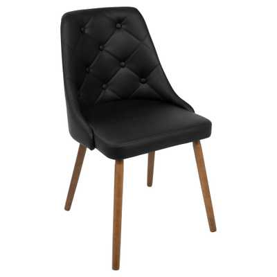 Giovanni Mid Century Modern Dining Chair - Black - Lumisource - Target