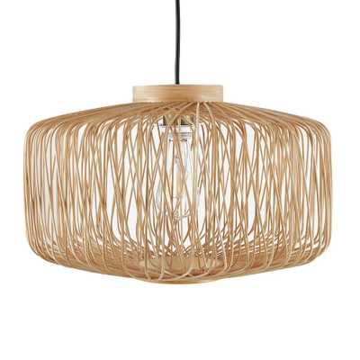 Southern Enterprises Motsi 1-Light Natural Finish Pendant Lamp - Home Depot
