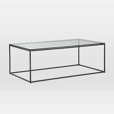 Streamline Coffee Table, Glass - West Elm