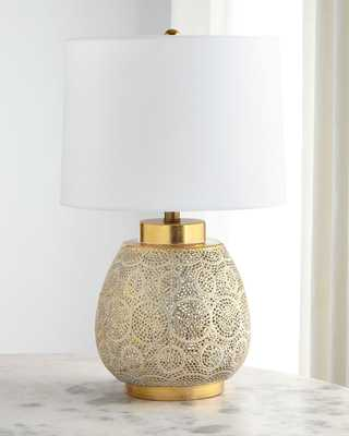 Pierced Metal Table Lamp - Horchow