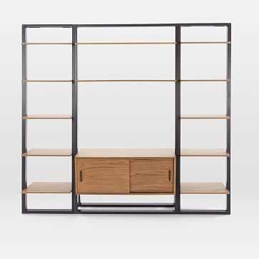 Ladder Shelf Media Console + Shelves Set - Wide - West Elm