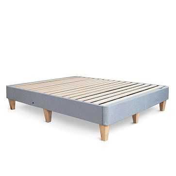 Leesa Platform Bed + USB, Full, Dark Gray - West Elm