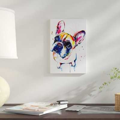 'Frenchie II' Graphic Art Print on Canvas - Wayfair