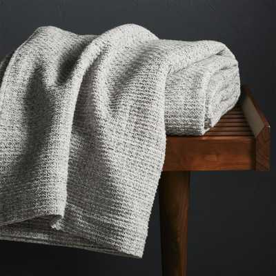 Bromley King Waffle Weave Blanket - Crate and Barrel