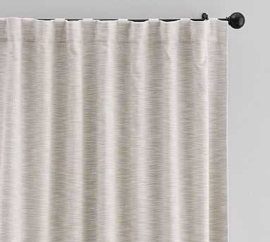 "Seaton Textured Drape 84"", Neutral - Pottery Barn"