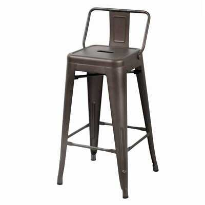 "Nathanial 30"" Metal Bar Stools (set of 4) - Wayfair"