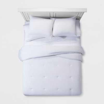 White Micro Texture Comforter Set (Full/Queen) - Project 62 + Nate Berkus - Target