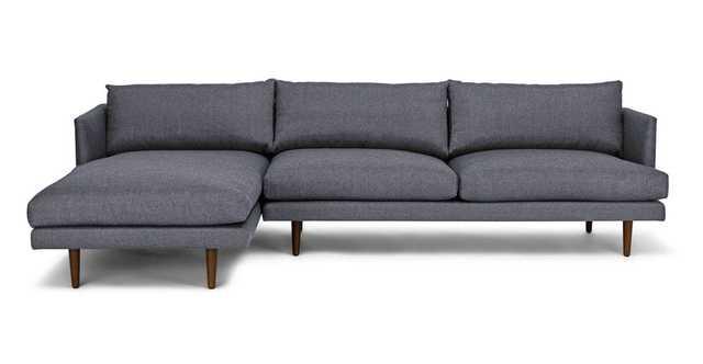 Burrard Stone Blue Left Sectional Sofa - Article