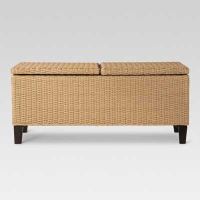 Fullerton Wicker Rectangle Patio Storage Coffee Table - Project 62 - Target
