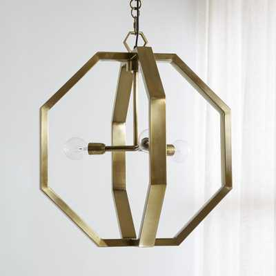 Cooper Antique Brass Chandelier - Crate and Barrel