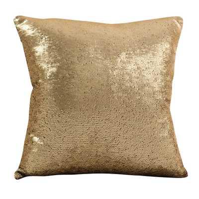 Gold Sequin Mermaid Design Throw Pillow (18) - Saro Lifestyle - Target