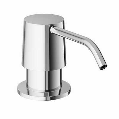 Kitchen Soap Dispenser in Chrome (Grey) - Home Depot