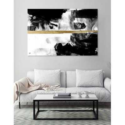 'Halfway Black and White' Graphic Art Print on Canvas - Wayfair