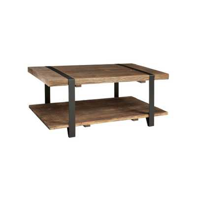 Modesto Rustic Natural Storage Coffee Table, Rustic/Natural - Home Depot