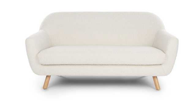 Gabriola Ivory Boucle Loveseat - Article