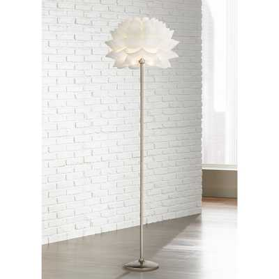 Possini Euro Design White Flower Floor Lamp - Style # M4705 - Lamps Plus