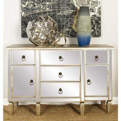 Light Beige Modern Wooden Mirror Cabinet - Home Depot