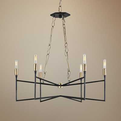 "Varaluz Bodie 26""W Havana Gold and Carbon 6-Light Chandelier - Style # 59D36 - Lamps Plus"