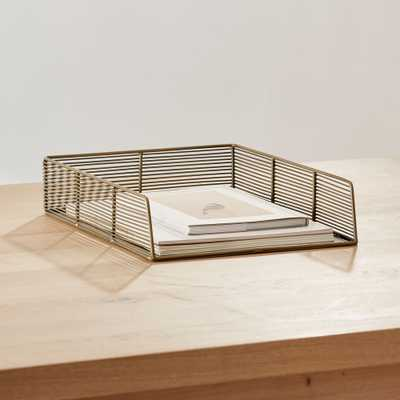 Kinsey Wire Paper Tray - Crate and Barrel