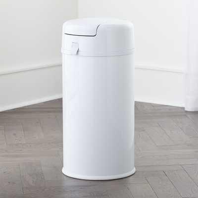 White Bubula Diaper Pail - Crate and Barrel