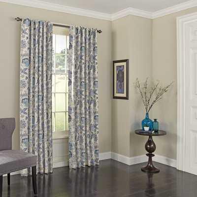 Jessamy Floral/Flower Blackout Rod Pocket Curtain - Birch Lane