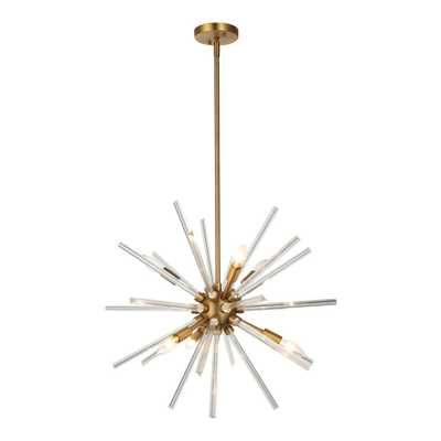 OVE Decors Harbin 6-Light Antique Bronze Chandelier - Home Depot