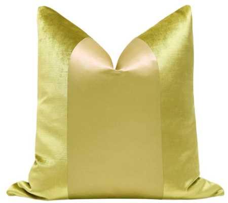 "PANEL :: Faux Silk Velvet // Chartreuse - 18"" X 18"" - Little Design Company"