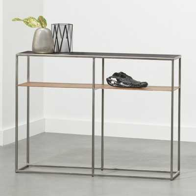 Mill Mini Leather Console Table - CB2