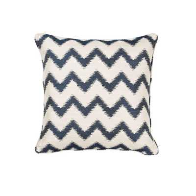 Nappa Ivory/Navy (Ivory/Blue) Decorative Pillow - Home Depot