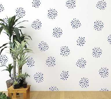 Dot Clusters Wall Decal, Dark Blue - Pottery Barn