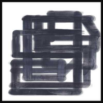 'Black Maze' Framed Print on Canvas - Wayfair